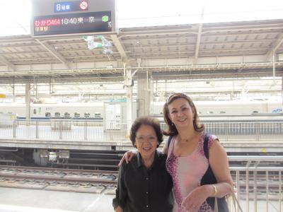 お婆ちゃんを見送りに新大阪駅に