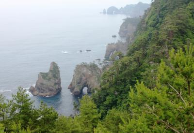 2015年夏の東北旅行3日目、②三陸復興公園を巡る旅(田野畑駅から北山崎)