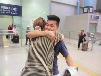 親友の息子を迎えに関西空港へ