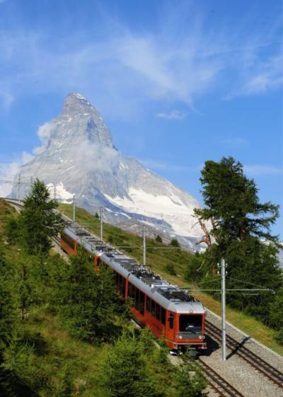 スイスハイキング7日目 ゴルナーグラート鉄道からリッフェルベルグまで