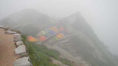 北アルプス表銀座 天候不良で久しぶりに撤退! 帰りに霧ケ峰でニッコウキスゲ見学