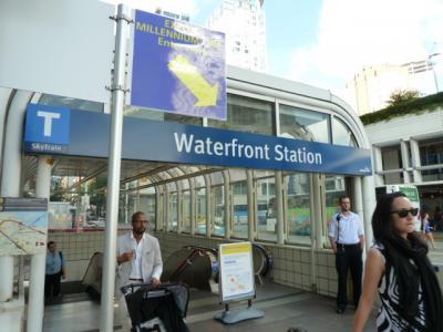 """バンクーバーのクルーズ港 """"カナダプレイス"""" から地下鉄""""ウォーターフロント駅""""経由でバンクーバー国際空港まで おまけ~券売機の使い方~"""