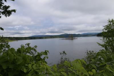 羽幌を出て、国道239号、275号を通り朱鞠内湖に立ち寄る