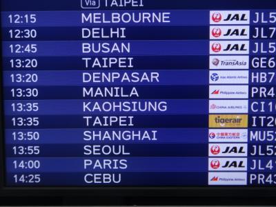 ジャワ島東部ラウン山噴火による火山灰の影響でデンパサール空港一時閉鎖のため成田に戻り今回の旅行は残念ながら中止!!!