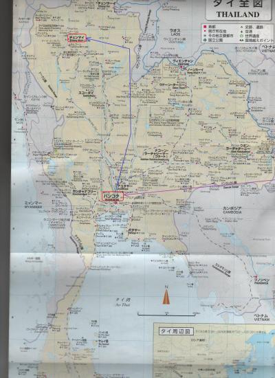 2015春・タイ・ベトナム等いなか街をさ迷う旅日記(NO17)ハノイ→バンコク(タイ)チェンマイ