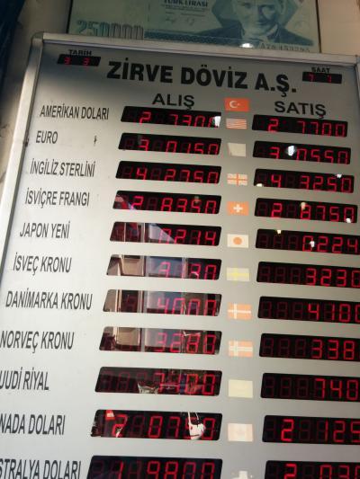 イスタンブールでのレートがいい両替屋さん