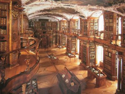 修道院図書館は撮影禁止で