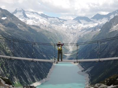 氷河と滝と湖と チロル ツィラータール紀行【5】絶景!吊り橋から氷河と湖を眺めて