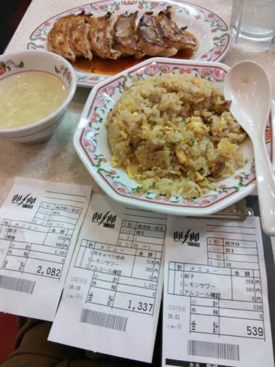 お散歩「家→蒲田の餃子の王将で食べ放題?」