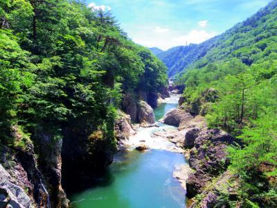 緑と水で涼む龍王峡