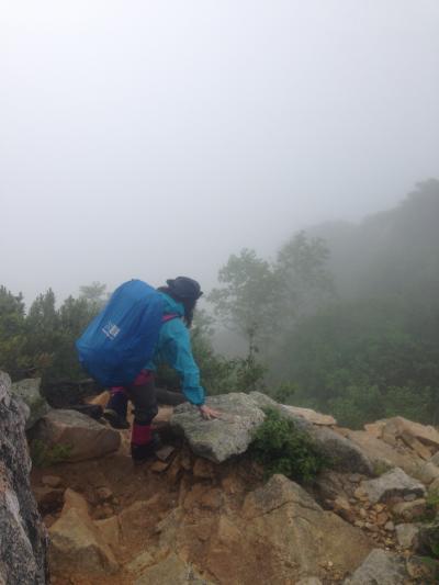 北アルプス表銀座縦走~雨とガスに煙る稜線~燕山荘・大天荘・常念小屋