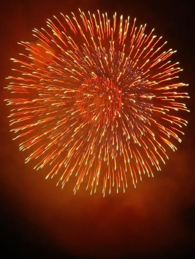 長岡大花火3/12 正三尺玉:大輪650m径の華 ☆10号玉の瞬間技続々と