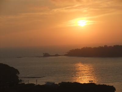 シナ海 海に沈む夕陽