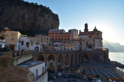 楽しかった~♪ 2015 猛暑のイタリア(アマルフィ・ローマ・フィレンツェ・ベネチア) 9. アトラーニの往復とサレルノを経由して黄金のローマへ出発