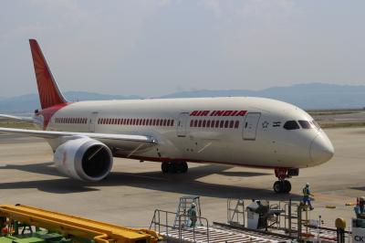 エア・インディア ビジネスクラス搭乗記 関空~香港~デリー Air India AI (2015/8 デリー・アグラ①)