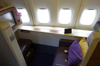 タイ航空 TG622便 B747 ファーストクラス