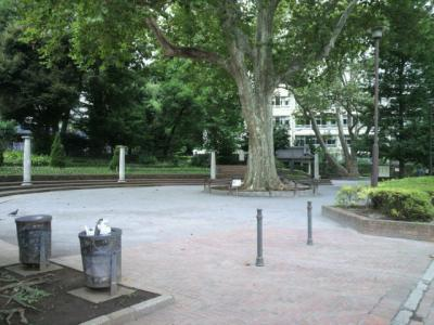四ッ谷駅の南西の四谷見附公園に行きました。