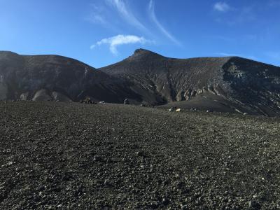 望岳台から十勝岳登山