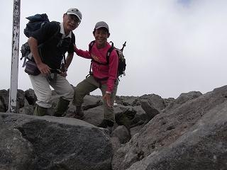 蓼科山 (2530m) に登り  ペンション歩絵夢へ