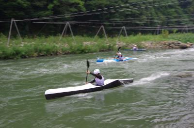 日本カヌー界のトップクラスの選手たちが競うジャパンカップのワイルドウォーター第4戦を見てきました