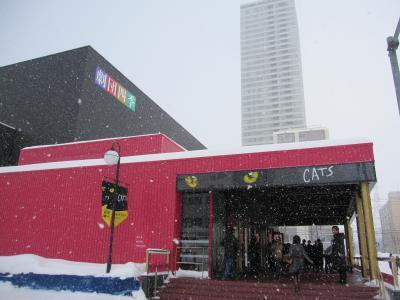 CATS札幌公演初日  冬の札幌をナメテマシタ・・・ ①