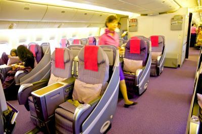 タイ国際航空 国内線 ビジネスクラス搭乗記 TG201 HKT BKK プーケット バンコク B777-200