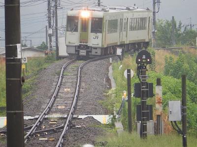 小川町駅で八高線に乗る