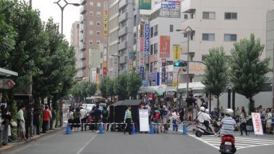 大田区蒲田駅前で映画撮影していました ゴジラ映画?