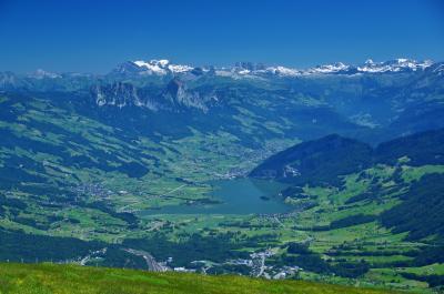 チューリッヒとリギ山からの山名同定