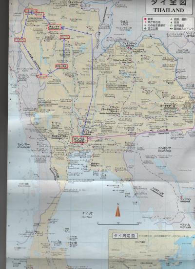2015春・タイ・ベトナム等いなか街をさ迷う旅日記(NO24)スコータイ→ランパーン