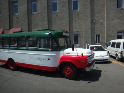 小樽駅に到着すると そのままバスに乗り継ぎます。