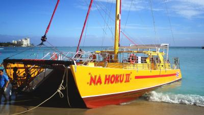 2015 Summer Vacation in Hawaii 海編 to sail boat