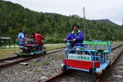 国鉄美幸線廃線跡をエンジン付トロッコで運転体験(北海道)