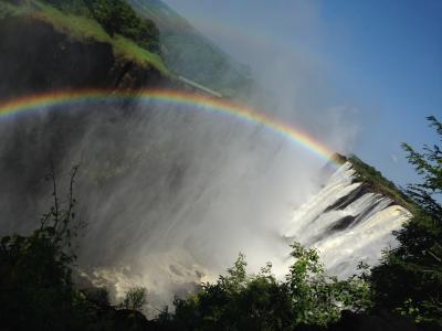 南アフリカ旅行 2日目 ザンビア ビクトリアの滝、アフリカ村そしてサファリ