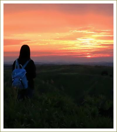 Solitary Journey[朝陽特別編]SW車中泊の旅<雄大な阿蘇の朝陽と彼岸花と古い町並みと滝&中国山地掛頭山の雲海>熊本県阿蘇市