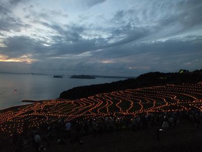 【その1】すっごい綺麗な土谷棚田のライトアップ→呼子→いろは展望台へ <SWはGWのリベンジの呼子・平戸・生月島の旅。ほぼ予定通りに進みましたのさー>