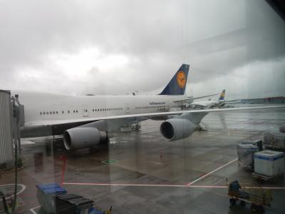 LH フランクフルト→成田 B747-400 新型ビジネスクラス メインデッキ