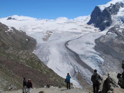2015年夏,西欧周遊 (11)スイス・ツェルマット,ゴルナーグラードからリッフェルベルクまでハイキング