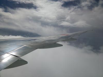 2015秋ついにインド#1 雨降る早朝のセントレアから成田へ国内線乗継 JAL新間隔エコノミー体験