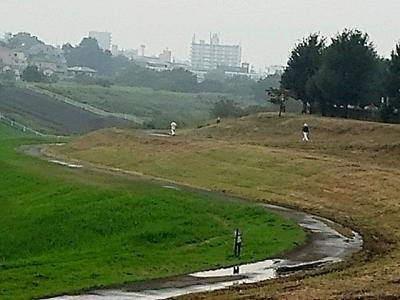 「さいたま市」と「川口市」の市境のウォーキング