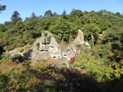 秋の優雅な北陸と信州の旅♪ Vol8(第1日目午後) ☆加賀:「那谷寺」の「楓月橋」から「奇岩遊仙境」を眺めて♪