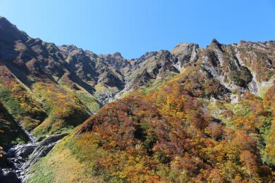 登らない谷川岳、絶景の紅葉トレッキング(マチガ沢、一ノ倉沢、幽ノ沢、芝倉沢)