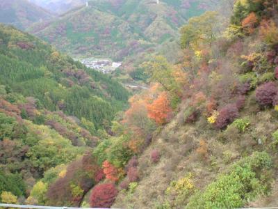下仁田より色付き始めた山を楽しみながら上野村不二洞へ