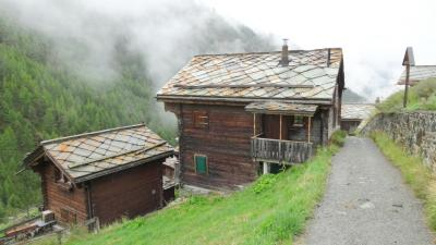 2015年8月 ★ツェルマットに一点集中の初スイス旅行★ スネガからツェルマットへ雨中ハイキング