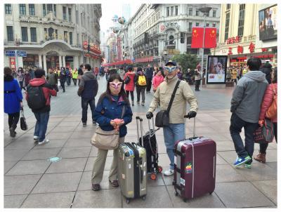上海の街を歩く