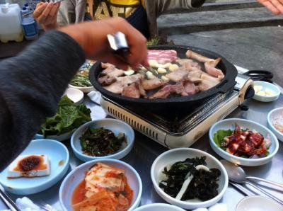 初めての韓国は滞在時間18時間!?とにかく肉!サムギョプサル、ハシゴ♪②ついに本場のサムギョプサル、そして帰国編