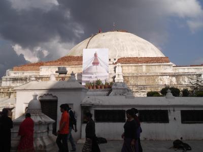 ネパール世界遺産+α : 2015年周遊旅⑥-3:カトマンズの午後:世界遺産ボダナート