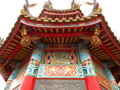 Japan 五千頭の龍が昇る道教のお宮 聖天宮 日本の中の台湾