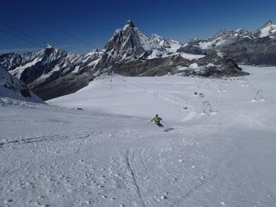 イタリアからの世界の車窓からのスイス のスキー