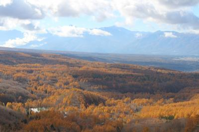 2015年10月28日:紅葉狩りドライブ 白樺湖~車山~松原湖~野辺山~東沢大橋~まきば公園~パノラマの湯